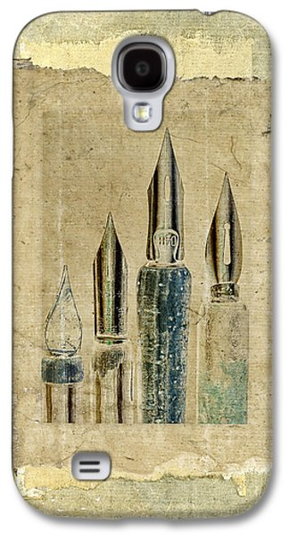 Pen Galaxy S4 Cases - Old Pens Old Papers Galaxy S4 Case by Carol Leigh