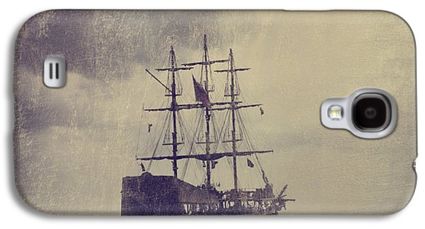 Transportation Pyrography Galaxy S4 Cases - Old Pirate Ship Galaxy S4 Case by Jelena Jovanovic