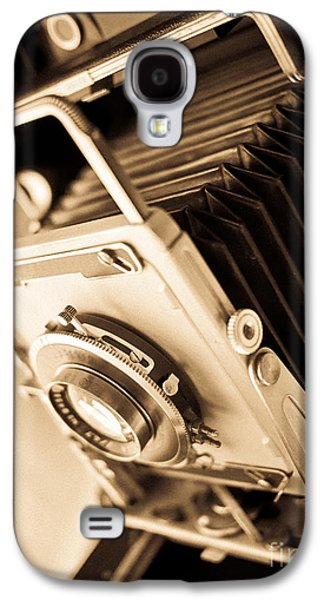 Brown Tones Galaxy S4 Cases - Old Press Camera Galaxy S4 Case by Edward Fielding