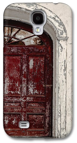 Outbuildings Galaxy S4 Cases - Old Red Door Galaxy S4 Case by Edward Fielding