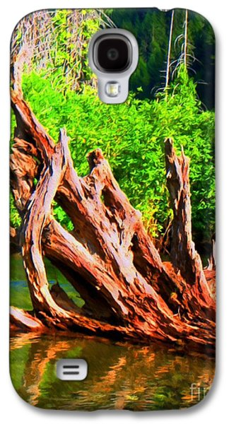 Tree Roots Mixed Media Galaxy S4 Cases - Old Roots in the River Galaxy S4 Case by John Kreiter