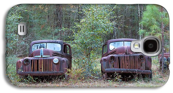 Antique Automobiles Galaxy S4 Cases - Old Rusty Cars And Trucks On Route 319 Galaxy S4 Case by Panoramic Images