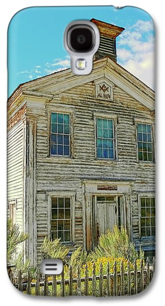 Old School Houses Galaxy S4 Cases - Old School House Bannack Ghost Town Montana Galaxy S4 Case by Jennie Marie Schell