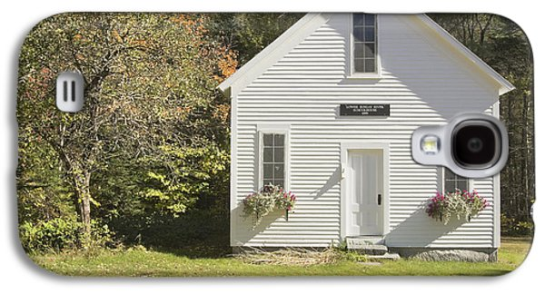 Old Maine Houses Galaxy S4 Cases - Old Schoolhouse Sunday River Maine Galaxy S4 Case by Keith Webber Jr