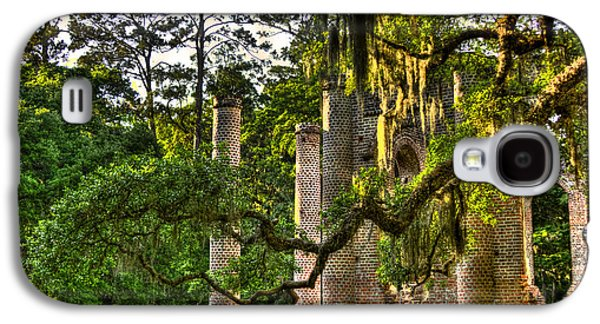 Civil War Site Galaxy S4 Cases - Old Sheldon Church Ruins in the Late Afternoon Galaxy S4 Case by Reid Callaway