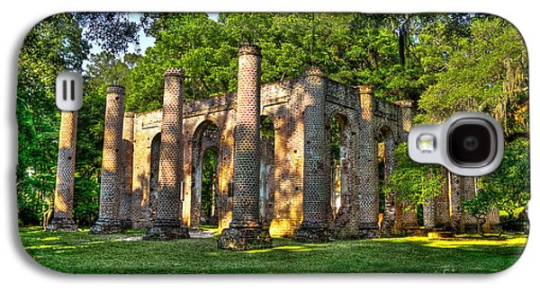 Civil War Site Galaxy S4 Cases - Old Sheldon Church Ruins in South Carolina Galaxy S4 Case by Reid Callaway