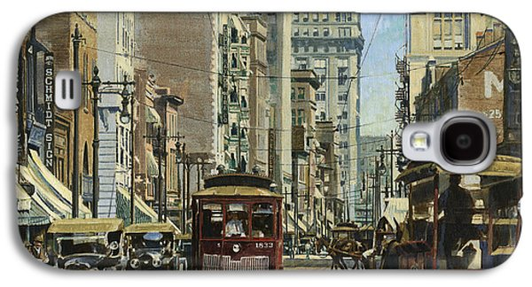 Old St. Louis 11th And Olive Galaxy S4 Case by Don  Langeneckert