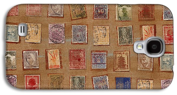 Postage Galaxy S4 Cases - Old Stamp Collection Galaxy S4 Case by Carol Leigh