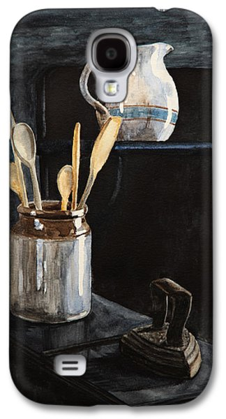 Old Pitcher Paintings Galaxy S4 Cases - Old Still Life Galaxy S4 Case by Masha Batkova