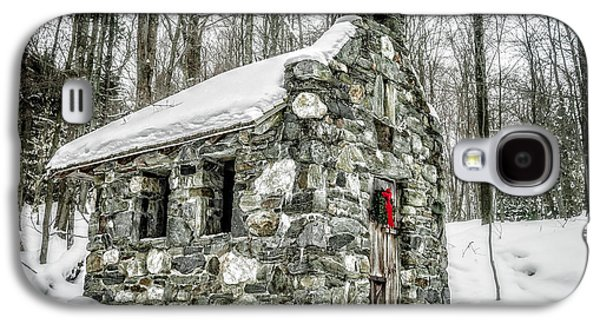 Religious Galaxy S4 Cases - Old Stone Chapel Stowe Vermont Galaxy S4 Case by Edward Fielding