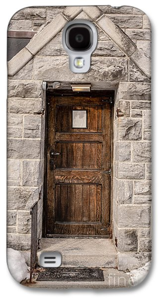 Wooden Door Galaxy S4 Cases - Old Stone Church Door Galaxy S4 Case by Edward Fielding