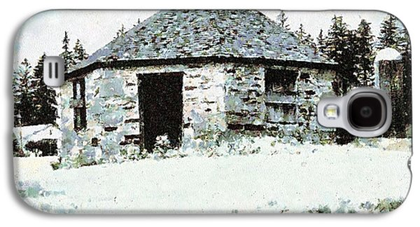 Old Stone Schoolhouse In Winter - South Canaan Galaxy S4 Case by Janine Riley