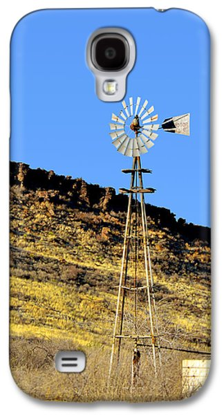 Windmill Galaxy S4 Cases - Old Texas Farm Windmill Galaxy S4 Case by Christine Till