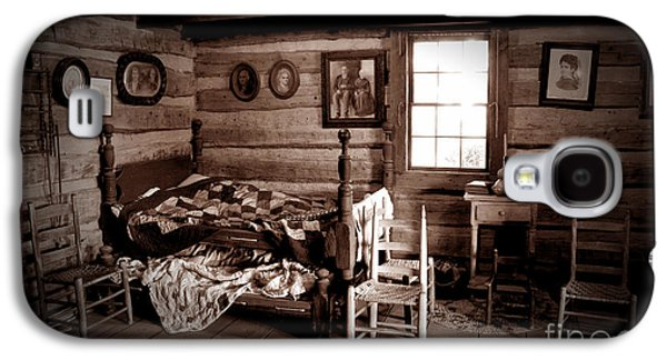 Log Cabin Interiors Galaxy S4 Cases - Old-Time Living Galaxy S4 Case by Paul W Faust -  Impressions of Light
