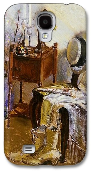 Interior Still Life Pastels Galaxy S4 Cases - Old Time Memories  Galaxy S4 Case by Susan Kuznitsky