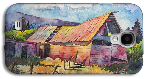 Old Barns Paintings Galaxy S4 Cases - Old Timer Galaxy S4 Case by Michael Bulloch