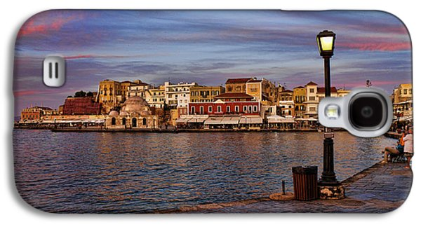 Interface Galaxy S4 Cases - Old town harbour in Chania Crete Galaxy S4 Case by David Smith