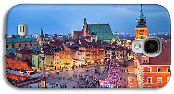 Polish Culture Galaxy S4 Cases - Old Town in Warsaw at Evening Galaxy S4 Case by Artur Bogacki