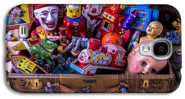 Concept Photographs Galaxy S4 Cases - Old Toys In Suitcase Galaxy S4 Case by Garry Gay