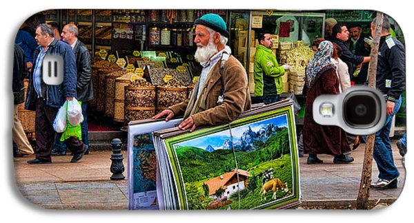 Local Food Galaxy S4 Cases - Poster Man at the Istanbul Spice Market Galaxy S4 Case by David Smith