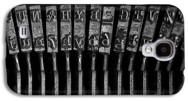 Typewriter Keys Photographs Galaxy S4 Cases - Old Typewriter Keys Galaxy S4 Case by Edward Fielding