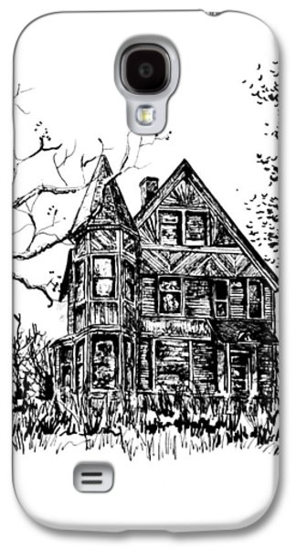 Haunted House Drawings Galaxy S4 Cases - Old Victoria Galaxy S4 Case by Terry Ganey