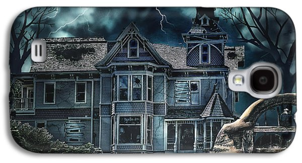Creepy Galaxy S4 Cases - Old Victorian House Galaxy S4 Case by Mo T