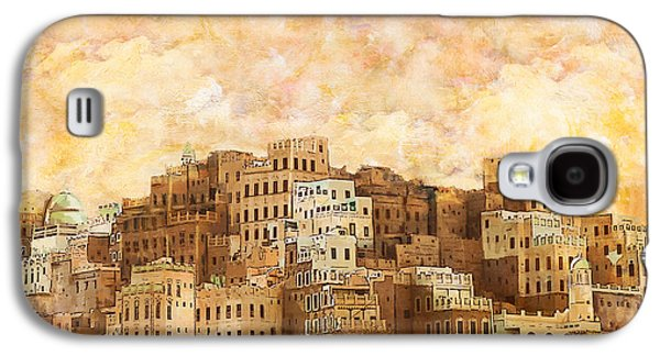 Museum Paintings Galaxy S4 Cases - Old walled city of Shibam Galaxy S4 Case by Catf
