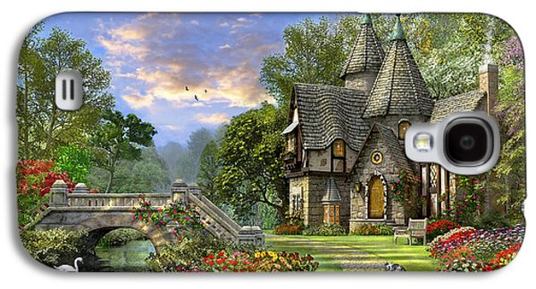 Gothic Galaxy S4 Cases - Old Waterway Cottage Galaxy S4 Case by Dominic Davison
