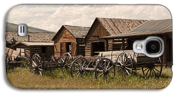 Log Cabin Photographs Galaxy S4 Cases - Old West Wyoming  Galaxy S4 Case by Juli Scalzi