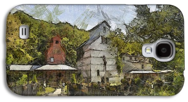 Old Barn Drawing Drawings Galaxy S4 Cases - Old Weston Grain Elevator  Galaxy S4 Case by Liane Wright
