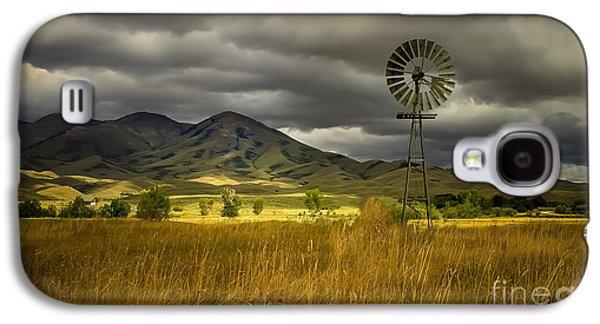 Haybale Galaxy S4 Cases - Old Windmill Galaxy S4 Case by Robert Bales