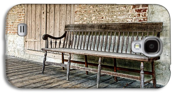 Historic Home Galaxy S4 Cases - Old Wood Bench Galaxy S4 Case by Olivier Le Queinec