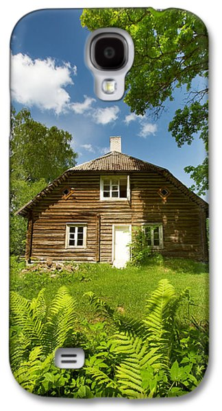 Shed Pyrography Galaxy S4 Cases - Old wooden house Galaxy S4 Case by Anna Grigorjeva