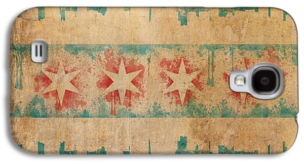 Old World Chicago Flag Galaxy S4 Case by Mike Maher