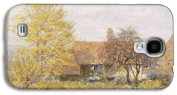 19th Century Galaxy S4 Cases - Old Wyldes Farm Galaxy S4 Case by Helen Allingham