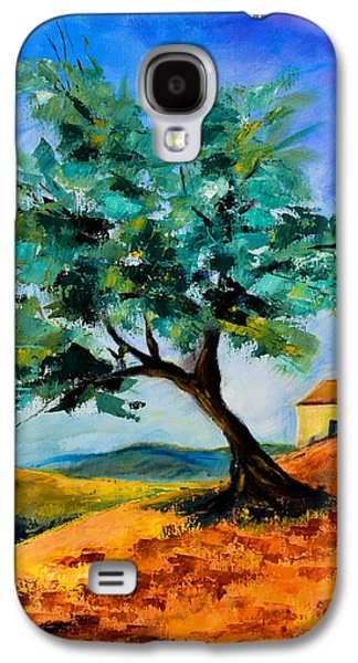Tuscan Hills Galaxy S4 Cases - Olive Tree on the Hill Galaxy S4 Case by Elise Palmigiani
