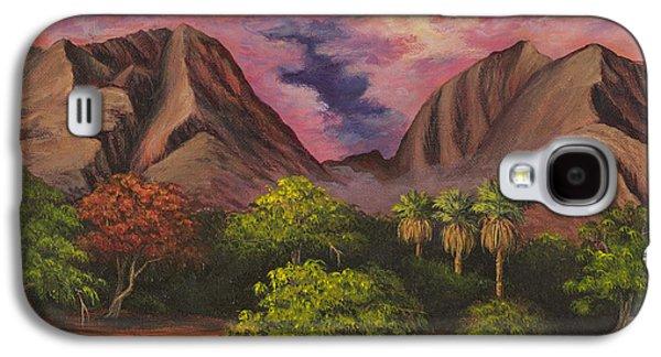 Beach Landscape Galaxy S4 Cases - Olowalu Valley Galaxy S4 Case by Darice Machel McGuire