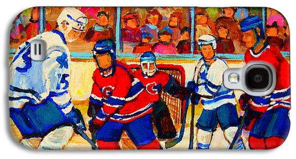 Hockey Sweaters Paintings Galaxy S4 Cases - Olympic  Hockey Hopefuls  Painting By Montreal Hockey Artist Carole Spandau Galaxy S4 Case by Carole Spandau