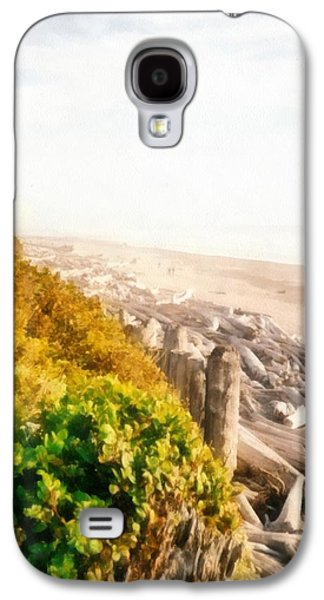 Park Scene Digital Galaxy S4 Cases - Olympic Peninsula Driftwood Galaxy S4 Case by Michelle Calkins