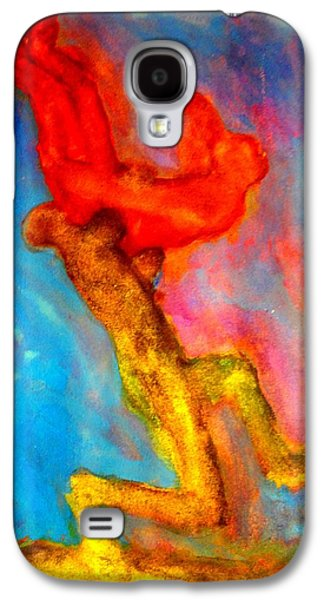 Mental Paintings Galaxy S4 Cases - Olympic Wrestling Forever Galaxy S4 Case by Hilde Widerberg