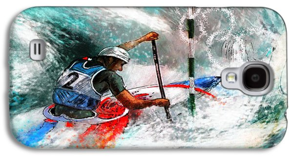 Canoe Mixed Media Galaxy S4 Cases - Olympics Canoe Slalom 02 Galaxy S4 Case by Miki De Goodaboom