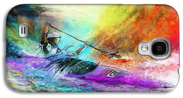 Canoe Mixed Media Galaxy S4 Cases - Olympics Canoe Slalom 03 Galaxy S4 Case by Miki De Goodaboom