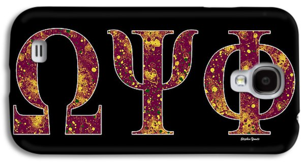 Omega Psi Phi - Black Galaxy S4 Case by Stephen Younts
