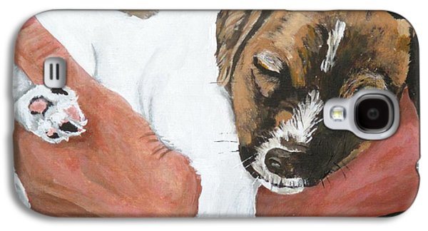 Puppies Galaxy S4 Cases - On Guard Galaxy S4 Case by Michael Dillon