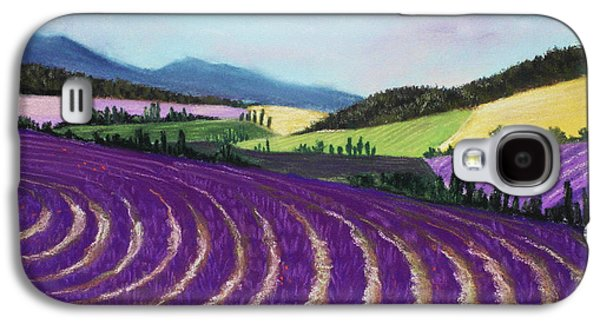 Landscape Posters Galaxy S4 Cases - On Lavender Trail Galaxy S4 Case by Anastasiya Malakhova
