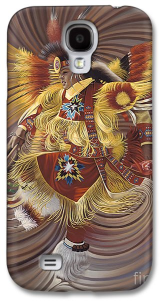 Fire Galaxy S4 Cases - On Sacred Ground Series 4 Galaxy S4 Case by Ricardo Chavez-Mendez