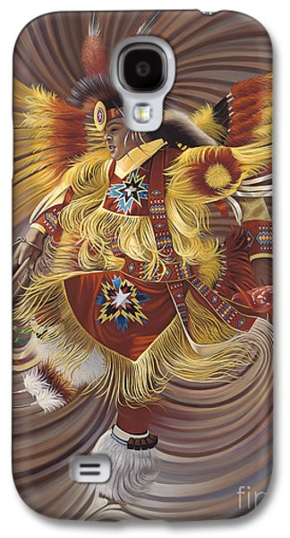 Americans Paintings Galaxy S4 Cases - On Sacred Ground Series 4 Galaxy S4 Case by Ricardo Chavez-Mendez
