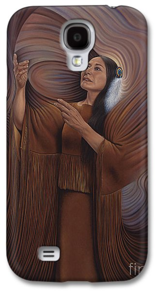 Earth Tones Galaxy S4 Cases - On Sacred Ground Series V Galaxy S4 Case by Ricardo Chavez-Mendez