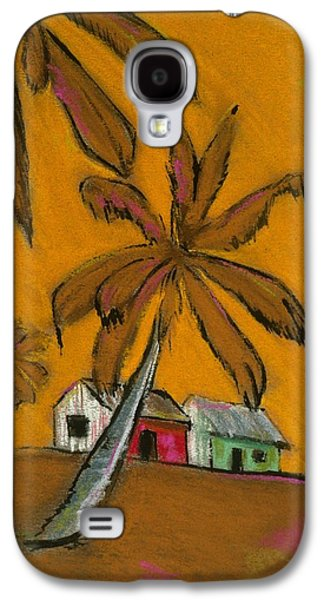 Beach Landscape Pastels Galaxy S4 Cases - On The Beach Galaxy S4 Case by Danyl Cook